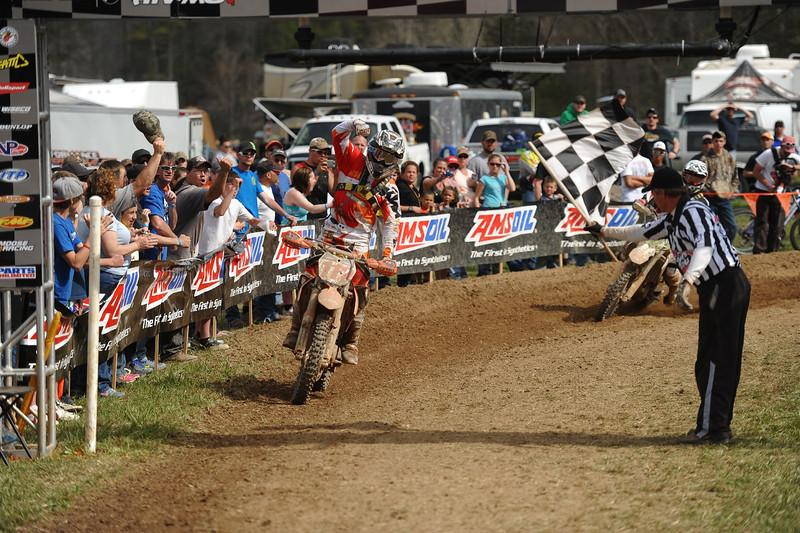 Charlie Mullins takes his second win of 2013 at the FMF Steele Creek GNCC