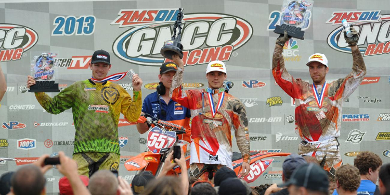 Kailub Russell Wins the 2nd Annual Parts Unlimited Mountaineer Run GNCC