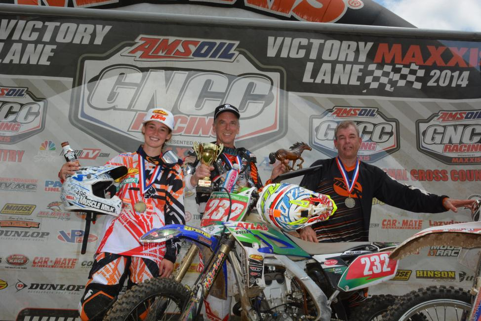 10 a.m. podium: (left) Kacy Martinez, Vance Earl, (right) Ricky Matteson