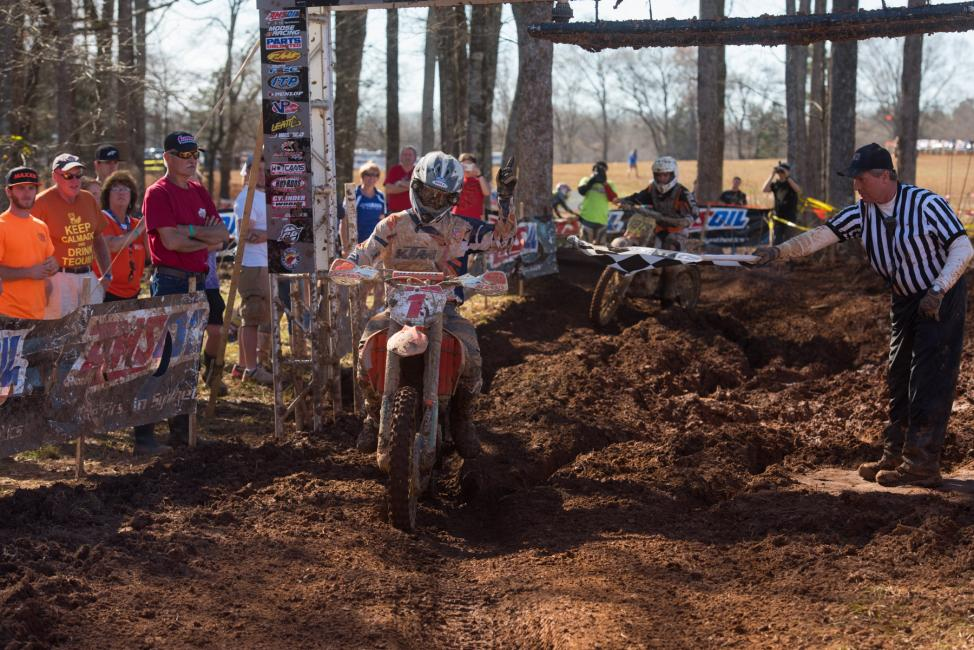 Kailub Russell makes it two in a row at The General GNCC Photo: Ken Hill