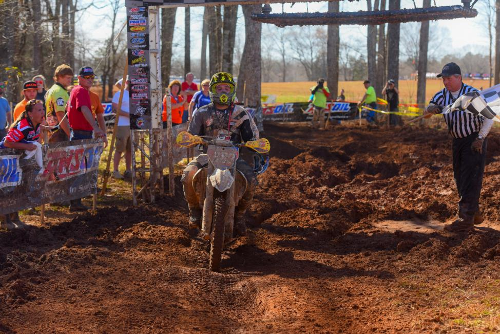 DuVall put on a hard charge to finish atop the podium for the first time in 2015 Photo: Ken Hill