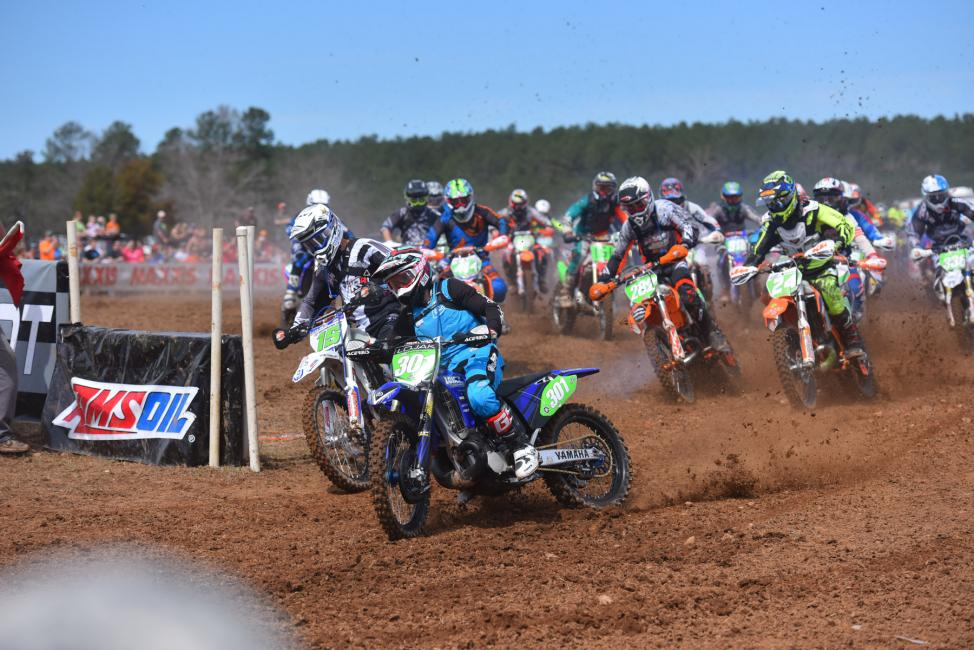 Ryan Lojak edged out Nick Davis for the $100 Hot Cams XC2 Holeshot Award Photo: Ken Hill