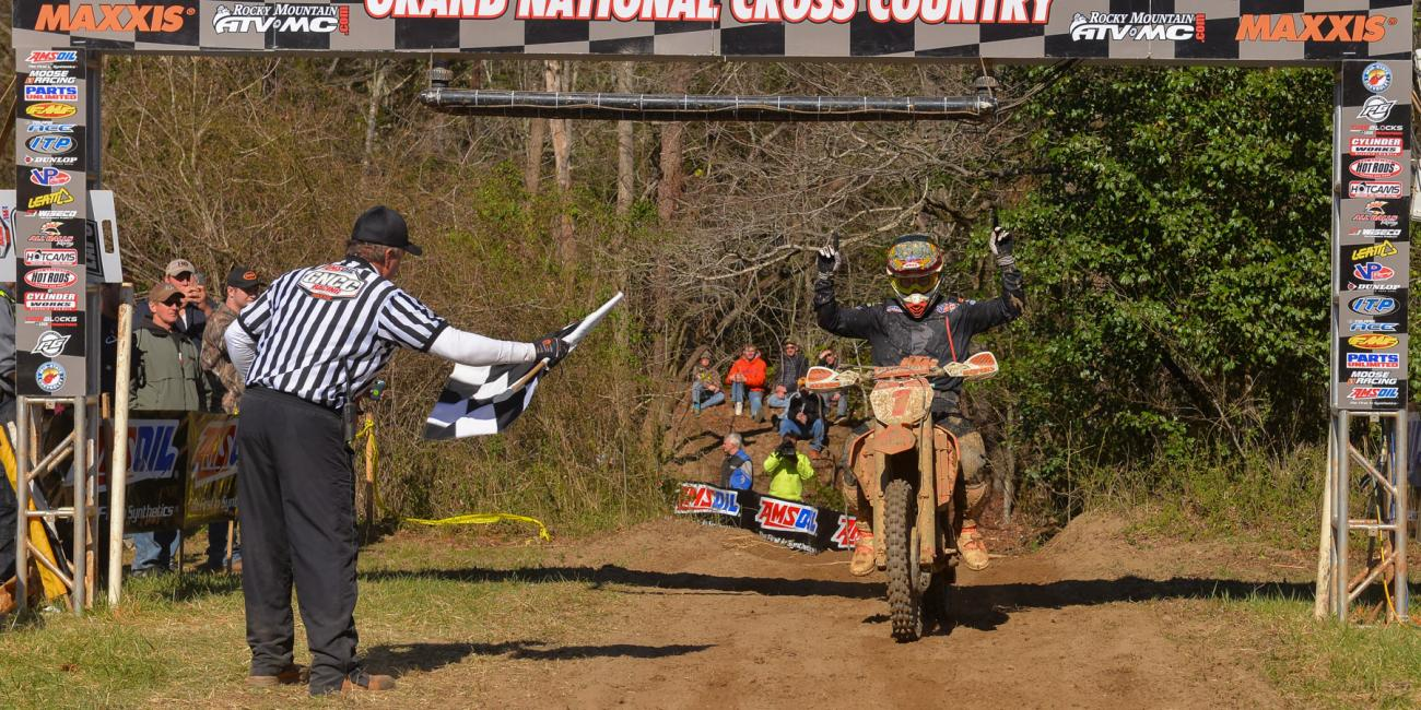 Russell Makes it Three-in-a-Row at Steele Creek GNCC