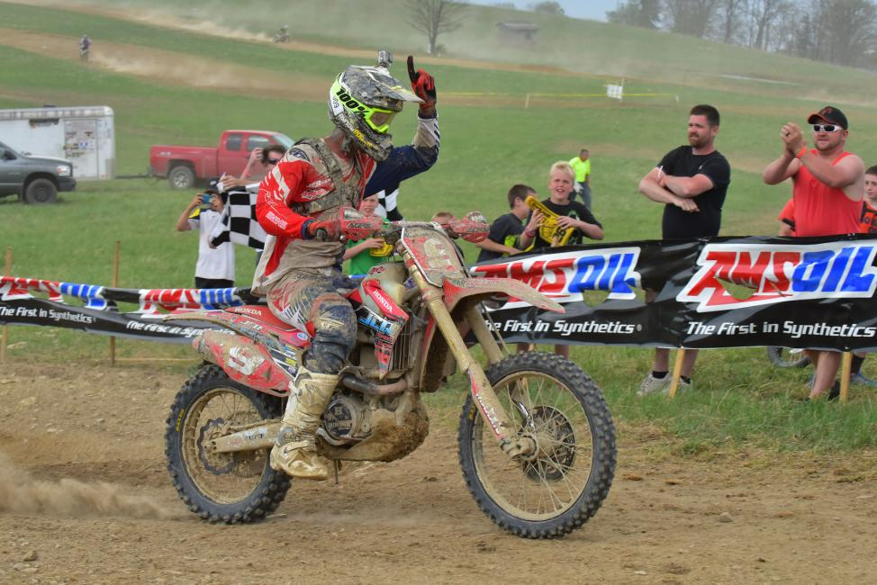 JCR Honda's Chris Bach earned his first career GNCC overall win at the Tomahawk GNCCPhoto: Ken Hill