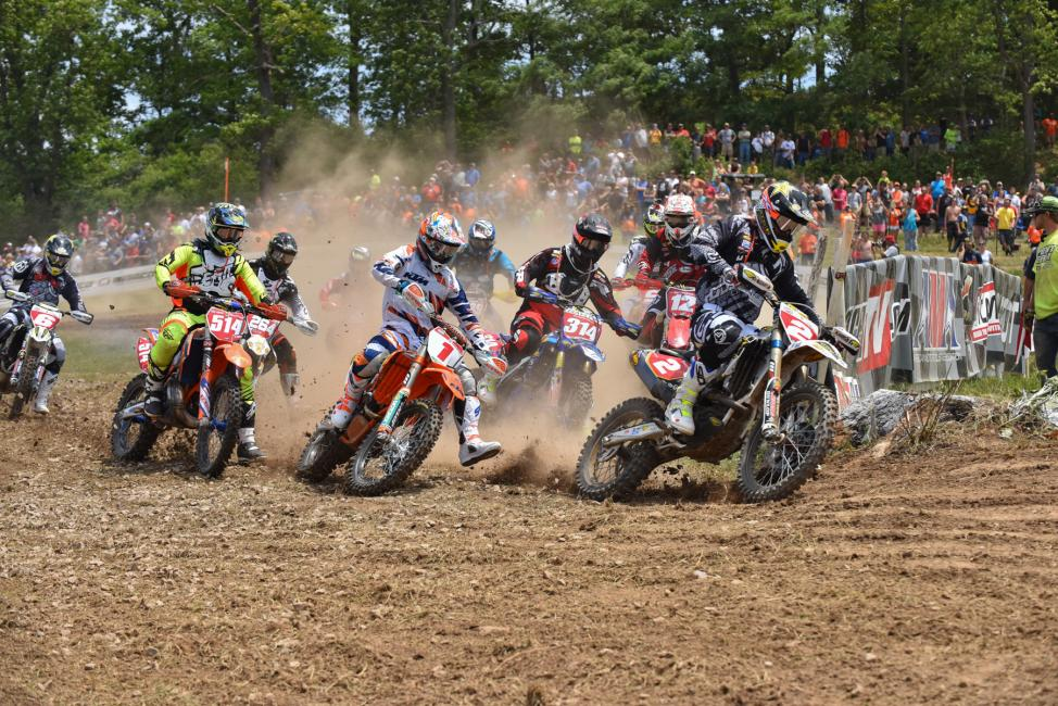 Josh Strang returned to GNCC this weekend, and grabbed the $250 All Balls Racing Holeshot AwardPhoto: Ken Hill