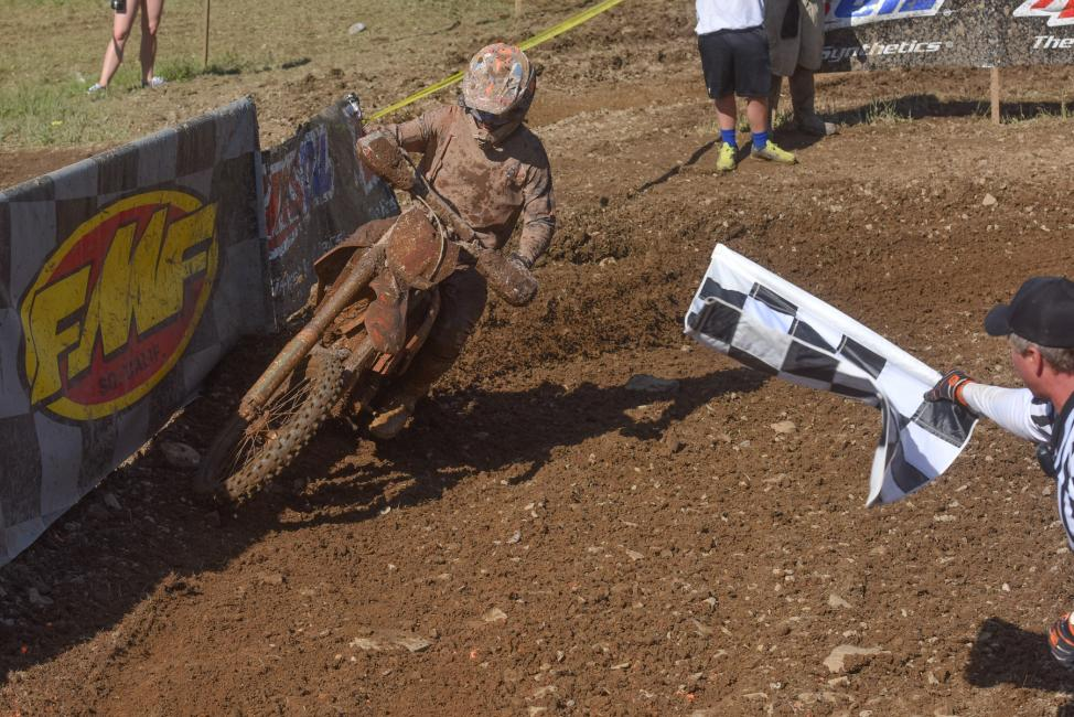 Kailub Russell was victorious at the Snowshoe GNCC, earning his eighth win of the season Photo: Ken Hill