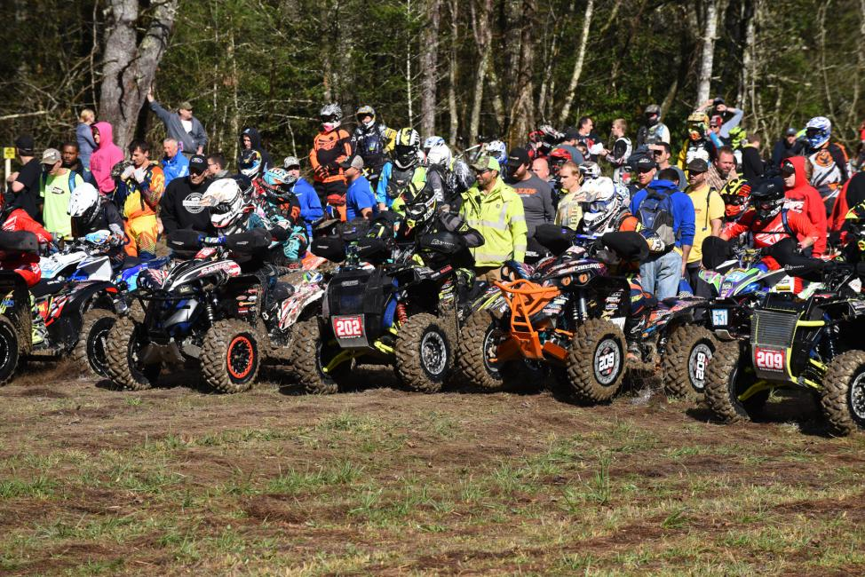 Team racer's Michael Swift and Kevin Trantham got off to mid-pack starts at the FMF Steele Creek GNCC.Photo: Ken Hill
