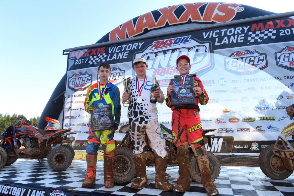 Youth Overall Podium: (2) Colton Stoneking, (1) Casey Simmons, (3) Ayden Konkler