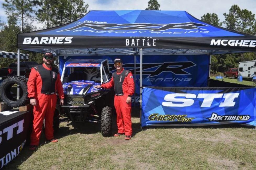 John Barnes and Philip McGhee at the opening round of the GNCC SXS Championship.