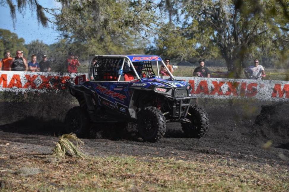 Barnes and McGhee got off to a great start aboard the Polaris RZR S 1000.