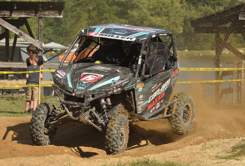 Hunter Miller finished one spot behind Chaney to give Can-Am Maverick side-by-side vehicle racers a 1-2 finish at the Camp Coker GNCC.
