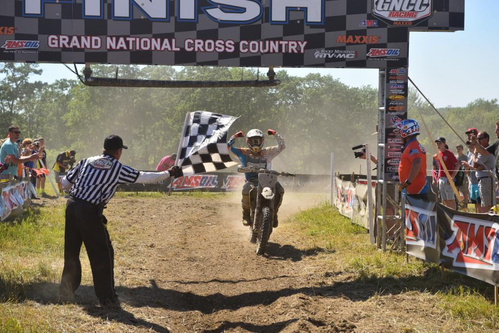 Thad Duvall powered through the rough New York terrain to take the overall win.