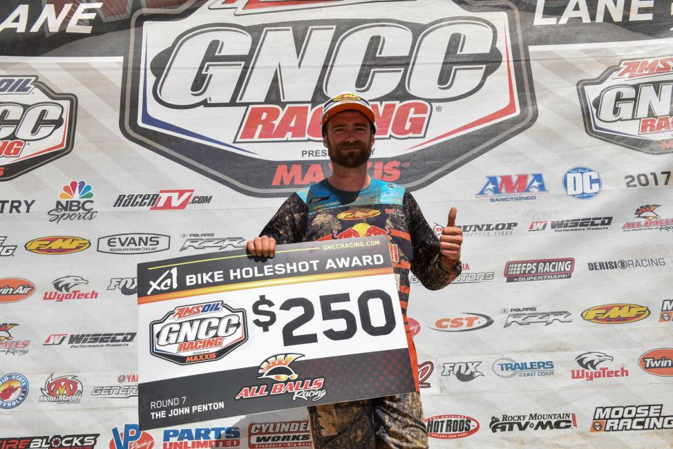 Russell Bobbitt jumped out to the early lead, grabbing the $250 All Balls Racing Holeshot Award.