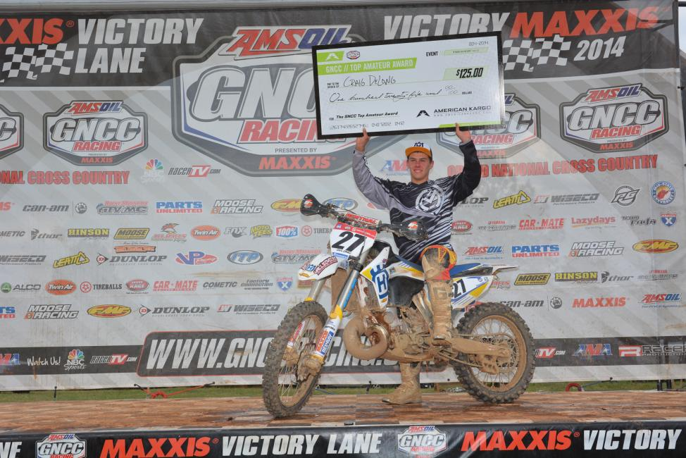 Craig Delong grabbed the $125 American Kargo Top Amateur Award with sixteenth overall