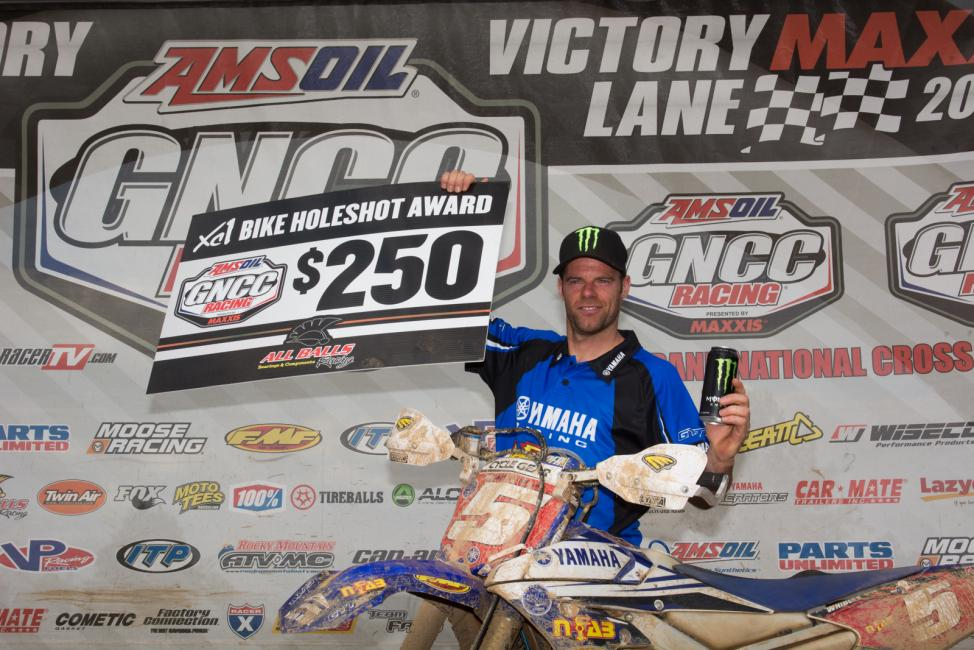 Paul Whibley secured the $250 All Balls Racing XC1 Holeshot Award