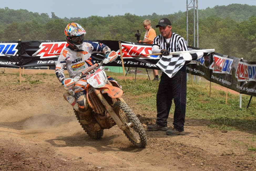 Kailub Russell dominated the 2015 Wiseco John Penton GNCC, finishing one minute and 37 seconds ahead of second.Photo: Ken Hill