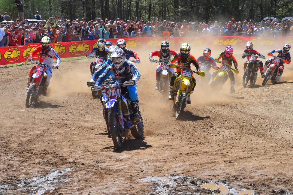 The XC1 Pro class put on quite a show for the Morganton, North Carolina GNCC fans.Photo: Ken Hill