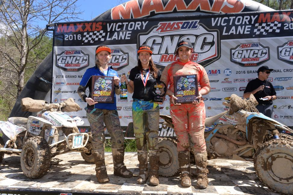 Alicia's win came at the FMF Steele Creek GNCC, round three of the series.