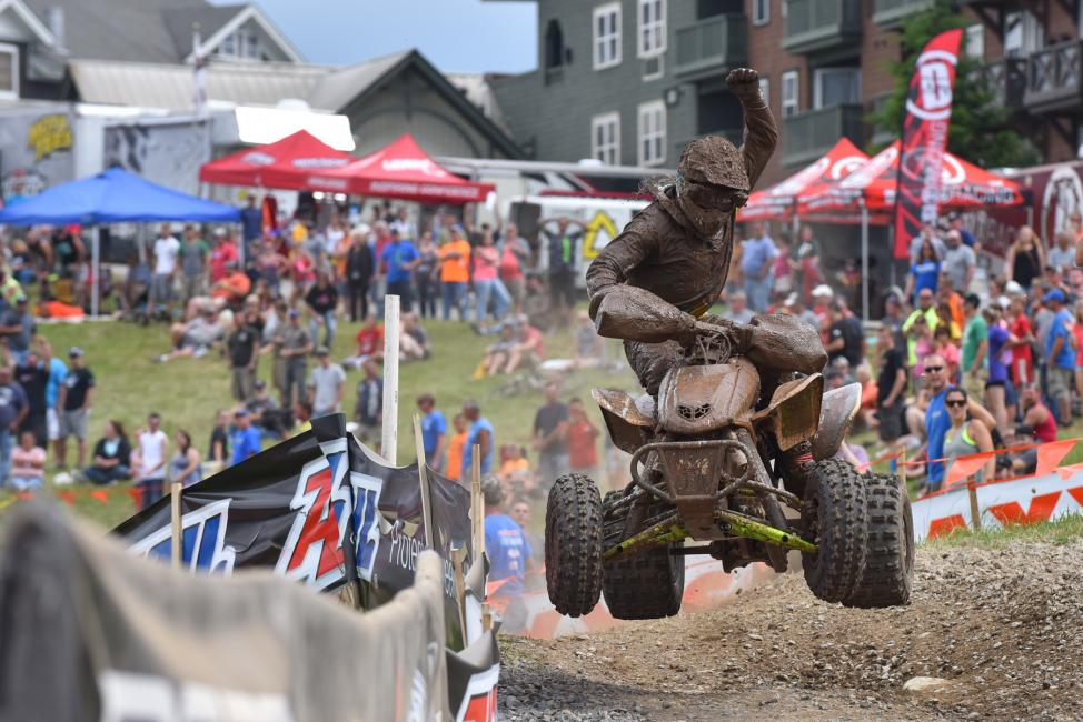 Adam McGill earned his fourth victory of the season with the Snowshoe overall win.Photo: Ken Hill