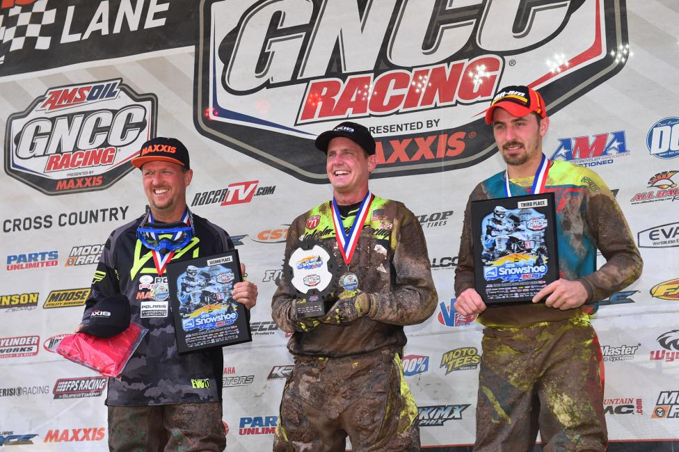 10 a.m. Podium: (2) Kevin Trantham, (1) Bryan Buckhannon, (3) Kevin Cunningham.Photo: Ken Hill
