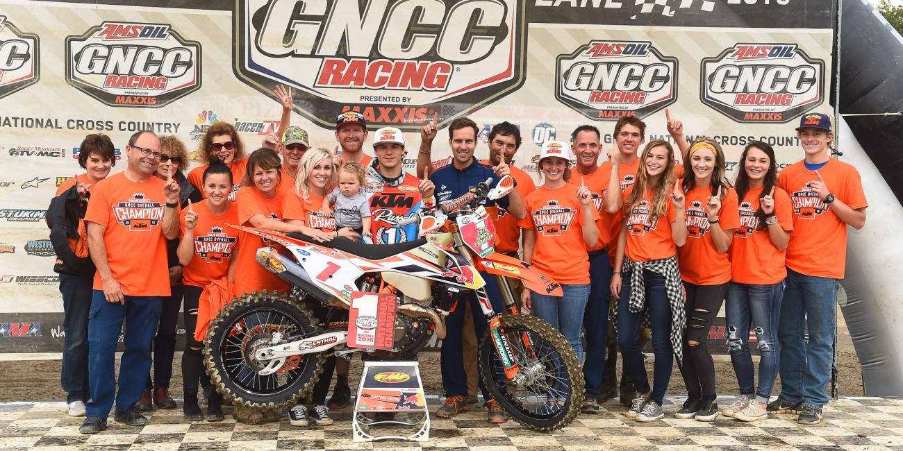 Kailub Russell Clinches Overall Win and Fourth Straight National Championship at Polaris Ace Powerline Park GNCC