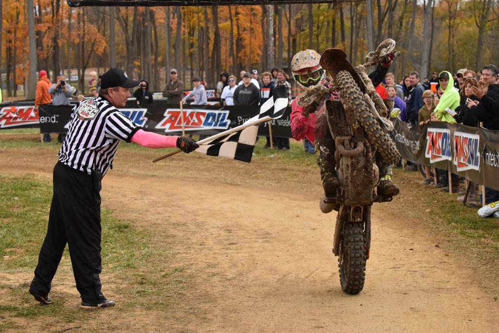 Kailub Russell secured his 40th overall GNCC win today at Ironman.Photo: Ken Hill