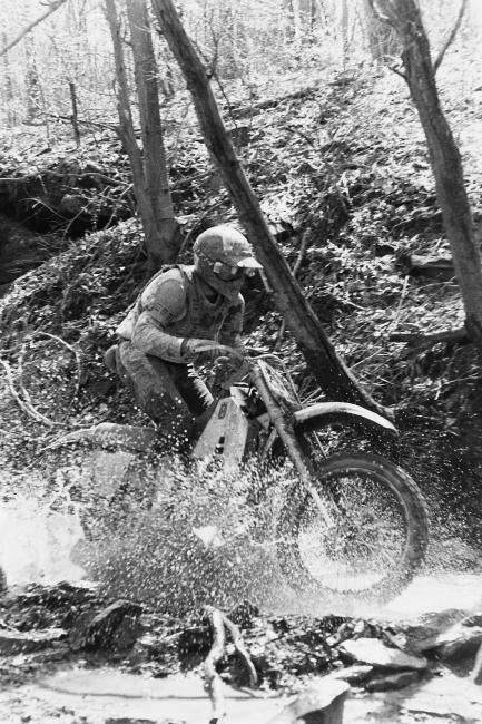 Here's long-time racer, Charlie Huegel at the 1990 High Point GNCC. Charlie is still around the track as his youngest son, brother and nephew are still GNCC regulars and his oldest son, Charkie, was a top A-class racer several years ago who helped to make the old Offroad Junkies website famous.
