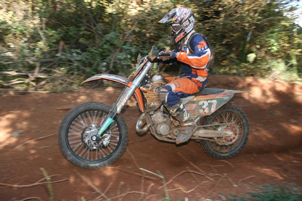 It's hard to believe this was almost ten years ago! Here's Kailub Russell in one of his early XC2 races at the 2007 Yadkin Valley Stomp GNCC aboard a KTM 125SX!