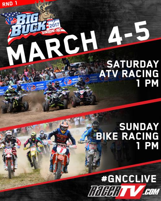 Watch GNCC LIVE on RacerTV all year!