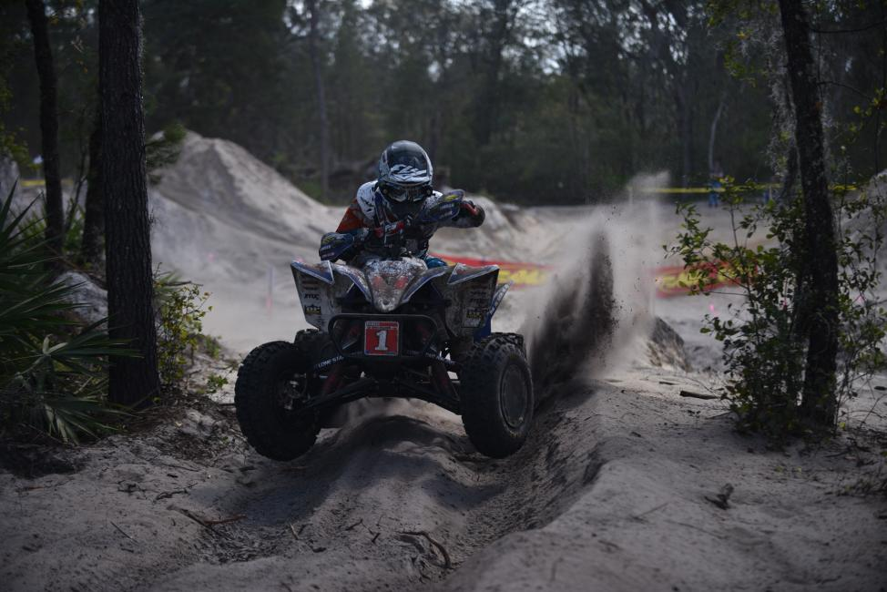 Walker Fowler rode his way to the center of the podium at the Wild Boar GNCC in Florida.