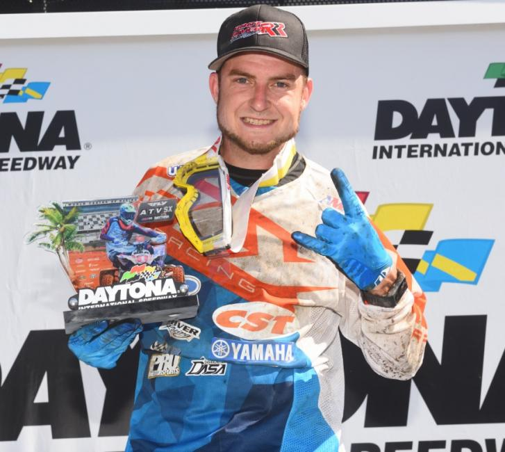 Thomas Brown landed on the podium at the ATV Supercross race by finishing third overall.