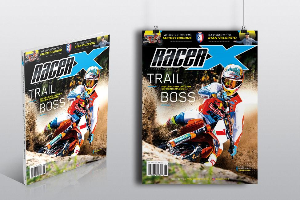 You can get your hands on an autographed poster of Kailub Russell's Racer X cover! Read ahead to find out how!