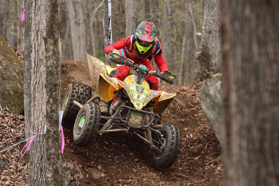 Hunter Hart was able to end Devon Feehan's success in the XC2 Pro-Am class and take the win.
