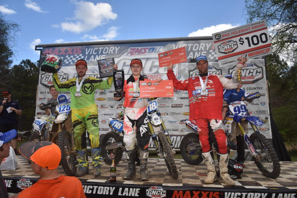 Who will be the new face on the FMF XC3 125 Pro-Am podium this Sunday?
