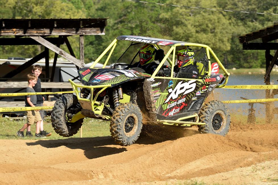 Kyle Chaney took the top spot on the box in the UTV division.