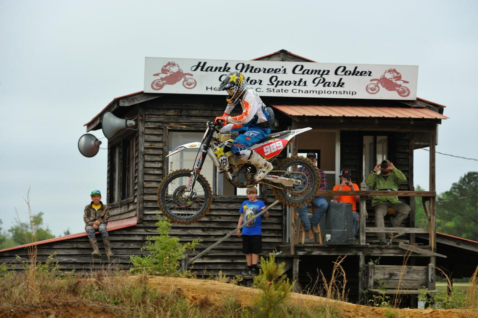 Thad Duvall's ride at the CST Tires Camp Coker Bullet GNCC proved he's hungry for the top spot of the box.