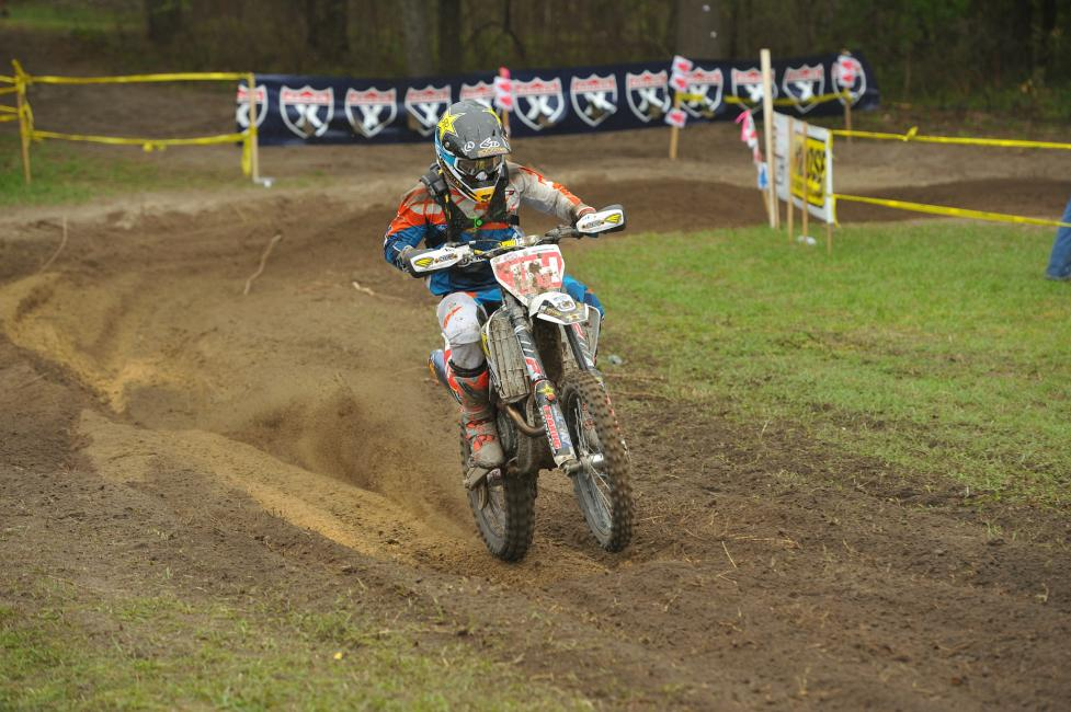 Rockstar Energy Husqvarna Factory Racing's Josh Strang makes progess and finished 5th overall for the XC1 class.