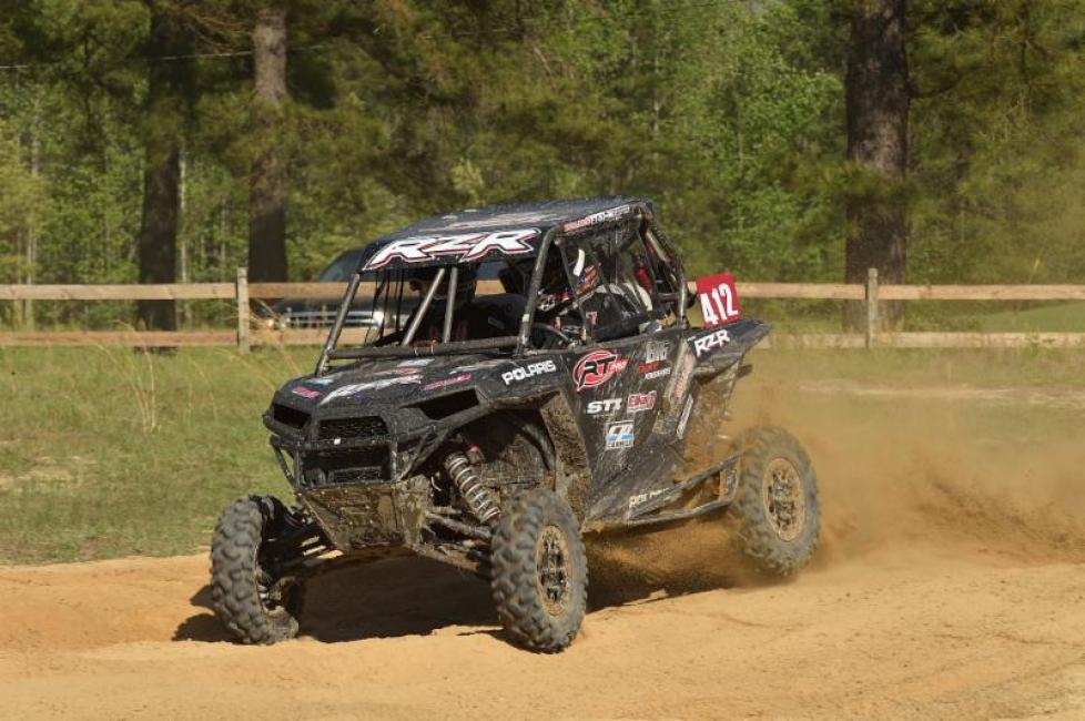 The Polaris RZR XP 1000 handled the rough conditions with ease.