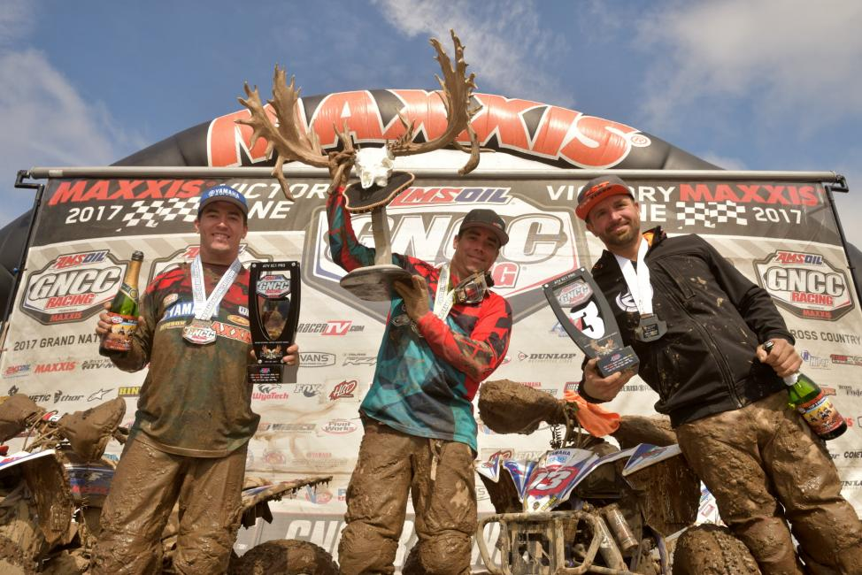 Johnny Gallagher earned the win at the inaugural X-Factor GNCC followed by Walker Fowler and Adam McGill.