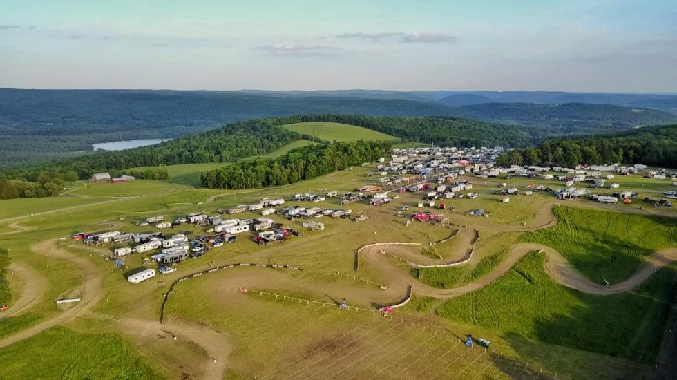 Race conditions were perfect at the Dunlop Tomahawk GNCC in Odessa, New York.