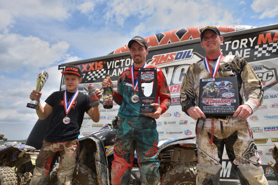 10 a.m. Overall Podium: (2) Ronnie Rusch, (1) Kevin Cunningham, (3) Bryan Buckhannon.