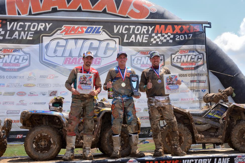 10 a.m. Overall Podium: (2) Kevin Cunningham, (1) Bryan Buckhannon, (3) Kevin Trantham.