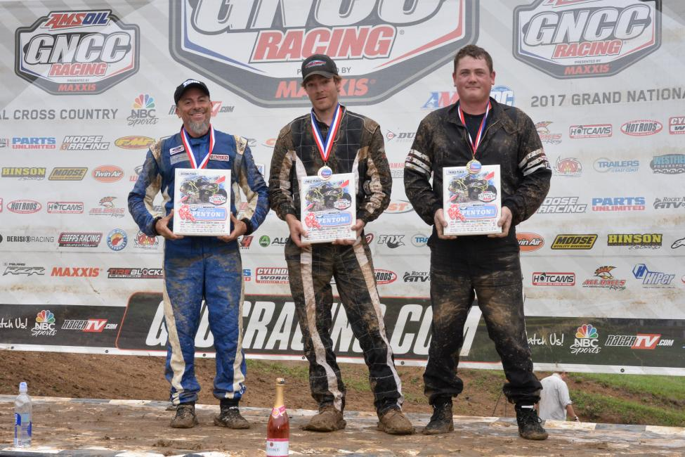 Single Seat UTV Podium: (2) Chris Ferraro, (1) Robert Boynton, (3) John Baughman.