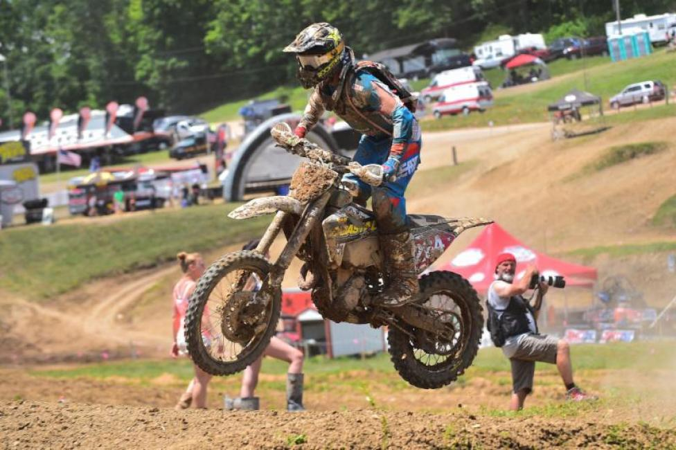 Ryan Sipes rode a solid race at the John Penton.
