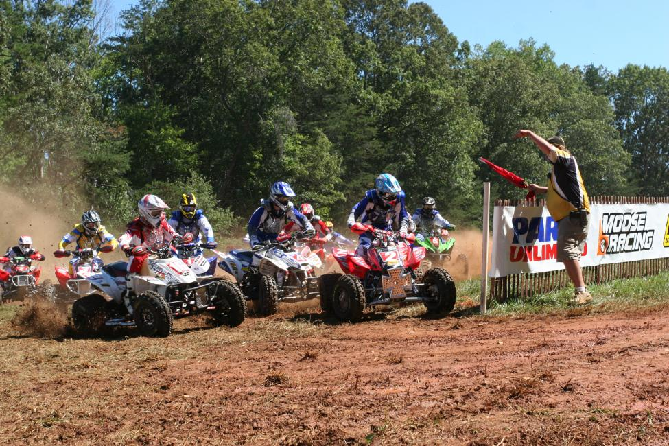 Chris Borich snags a holeshot at the 2007 Yadkin Valley Stomp GNCC. That's Brent Sturdivant on the white #16 with Chris Jenks on the #4. The Mid-East Hare Scramble Series will return to the old Yadkinville track later this year for it's first race since 2011.