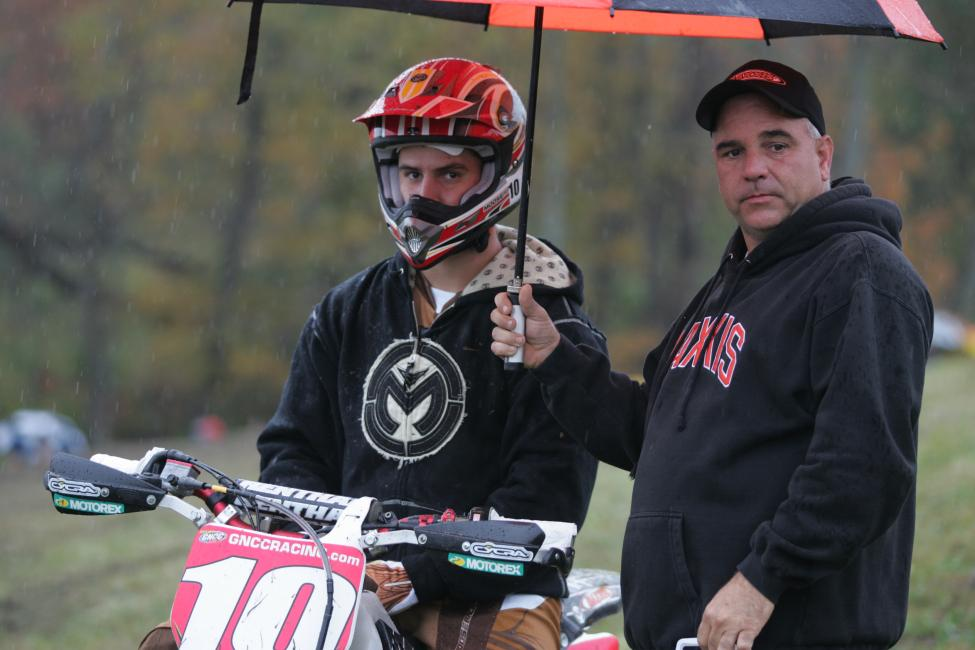 What do you think Jesse Robinson and his dad, Jimmy, are thinking in this shot from Unadilla 2008?