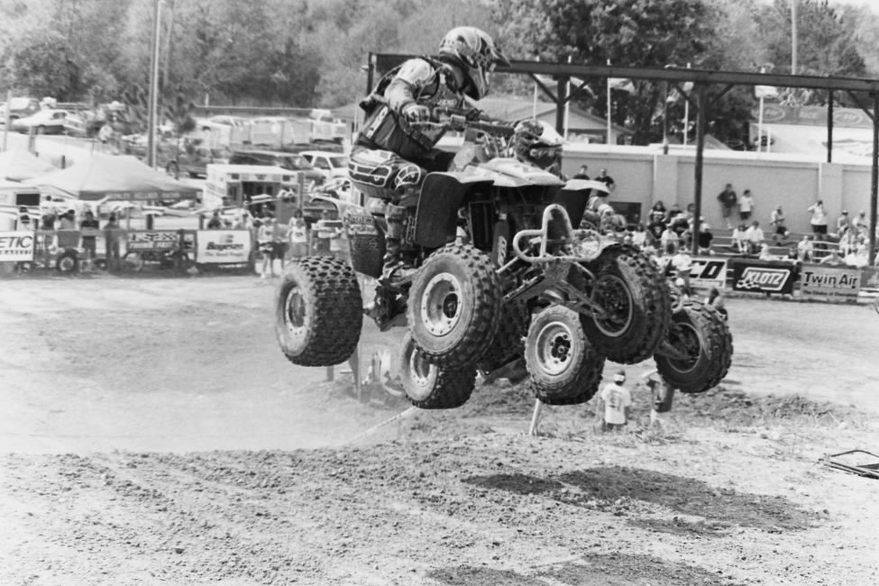 Here's a cool shot from the 1997 Ocala GNCC in Florida... Use your own imagination to come up with what was being said here!