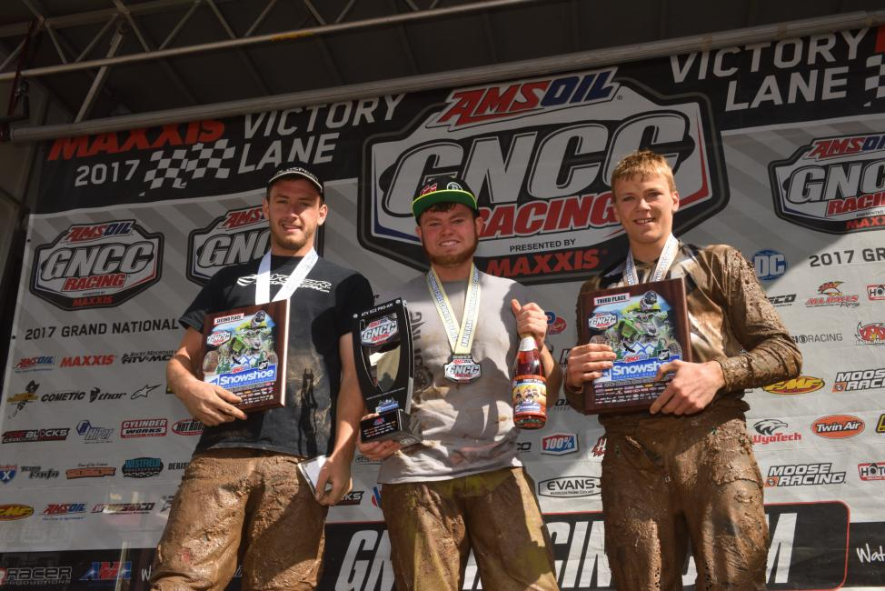 Brandon Icard took the win in the XC2 Pro-Am class at the AMSOIL Snowshoe GNCC.