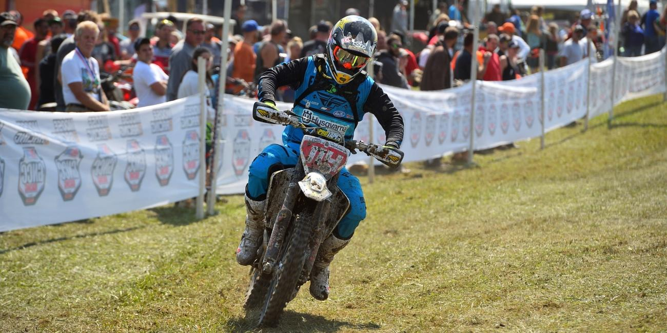 Rockstar Energy Husqvarna Factory Racing's Josh Strang Battles to Finish Unadilla GNCC
