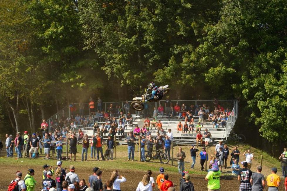 Sipes shows his motocross skills over the Unadilla Sky Shot.